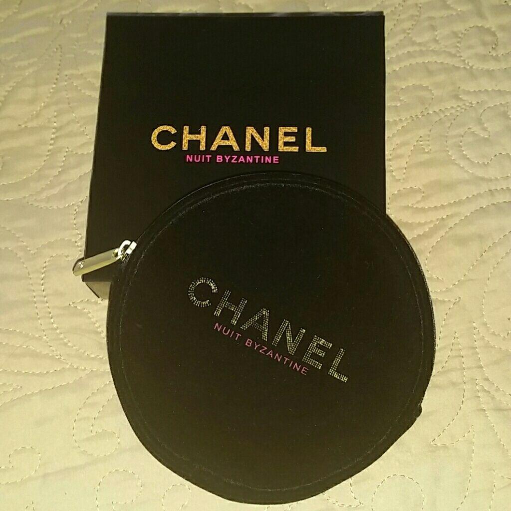 Velvet Chanel Makeup Case Pouch Box Chanel makeup
