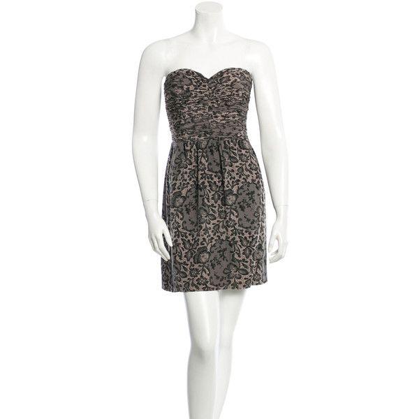 b956b7b8b461 Rebecca Taylor Silk Mini Dress ($95) ❤ liked on Polyvore featuring dresses,  black