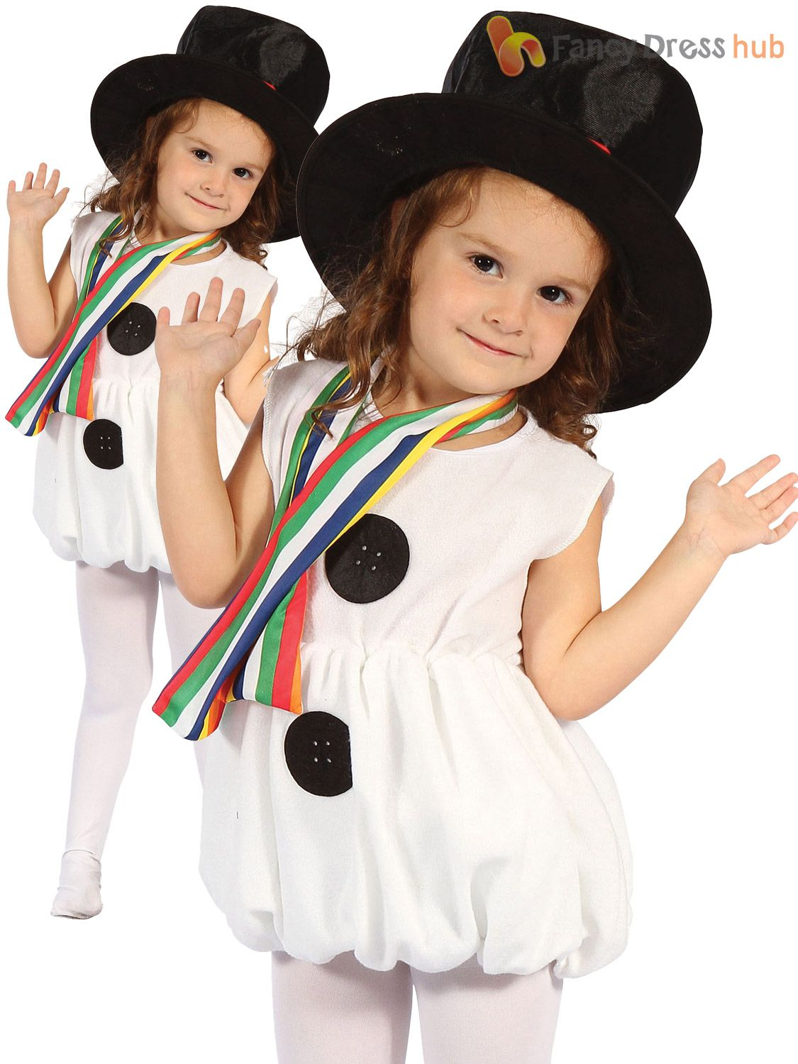 Christmas Fancy Dress Kids.Details About Girls Snowman Costume Childs Toddler Christmas