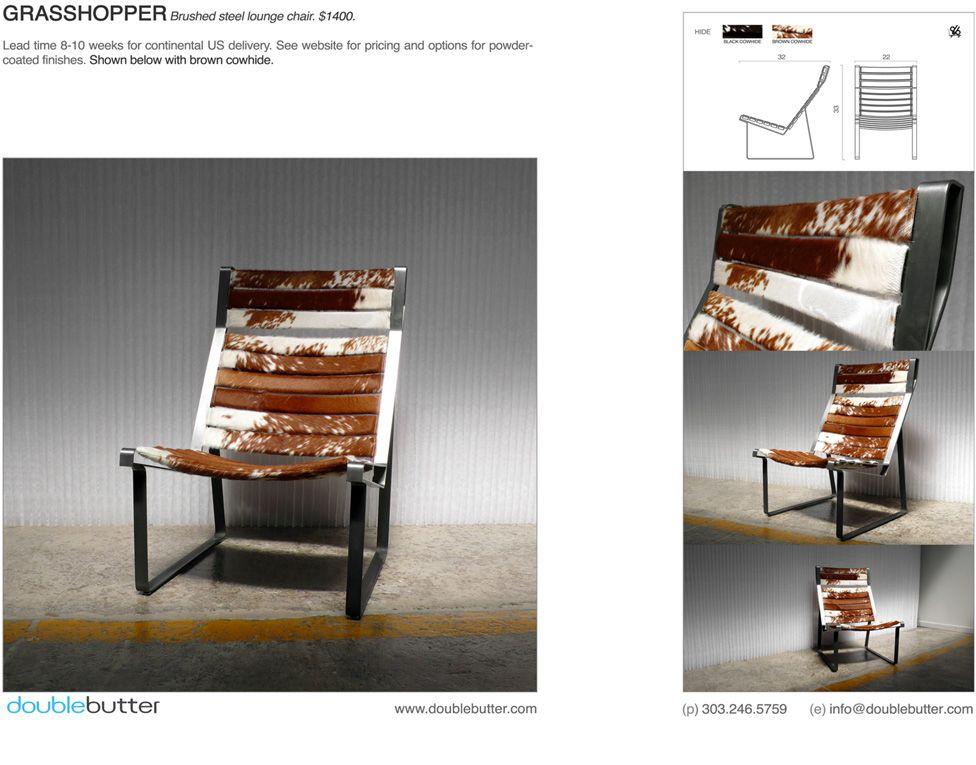 Modern Furniture - DoubleButter - GRASSHOPPER LOUNGE BRUSHED  #DenverHeartsTheArts
