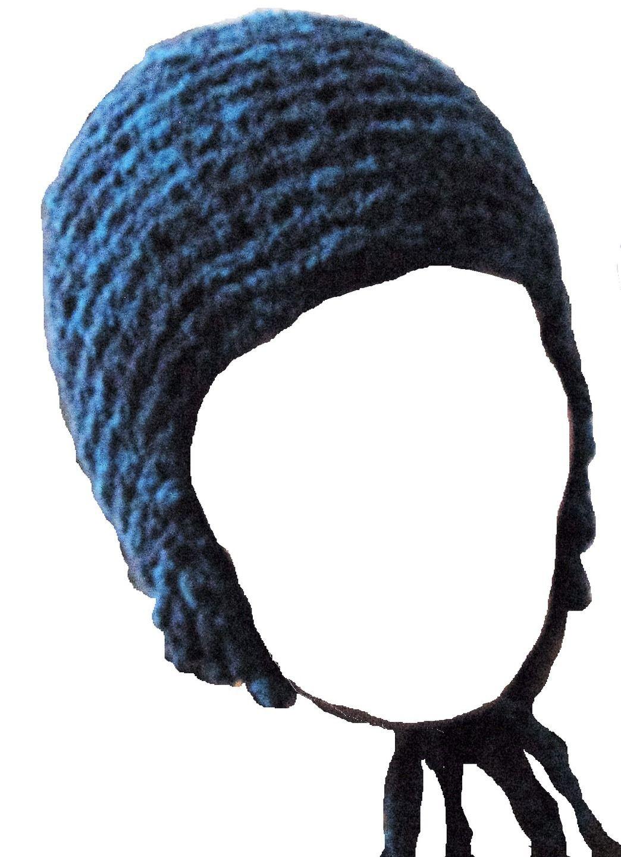 Bonnet pour femme avec cache-oreilles tricoté main   Chapeau, bonnet par  tricot-et-crochet-de-binouche 5aacc169664