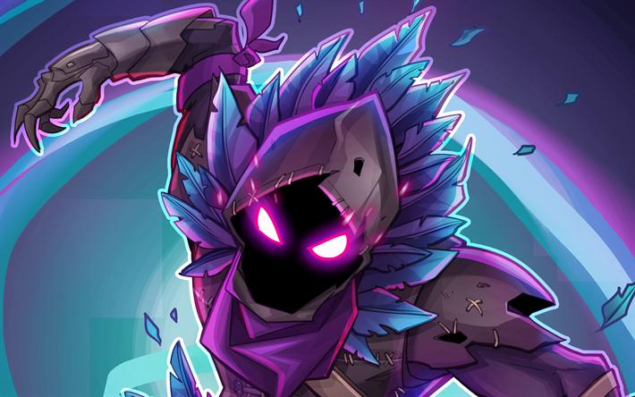 Download wallpapers Raven, 4k, Fortnite, warrior, 2018