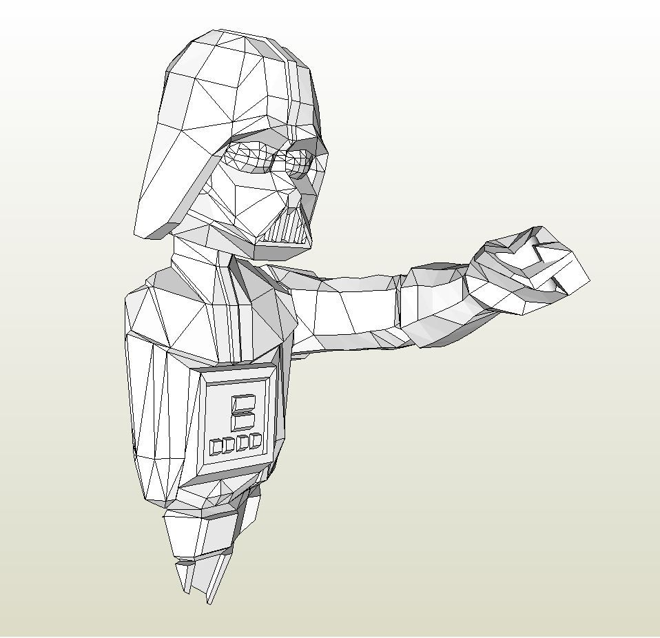 Papercraft Pdo File Template For Star Wars Darth Vader Wall Bust