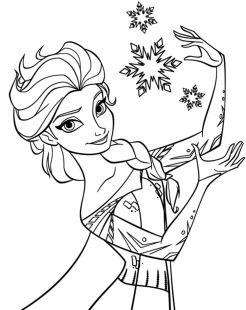 Gambar Mewarnai Princess Elsa Art Design Frozen Para Colorear