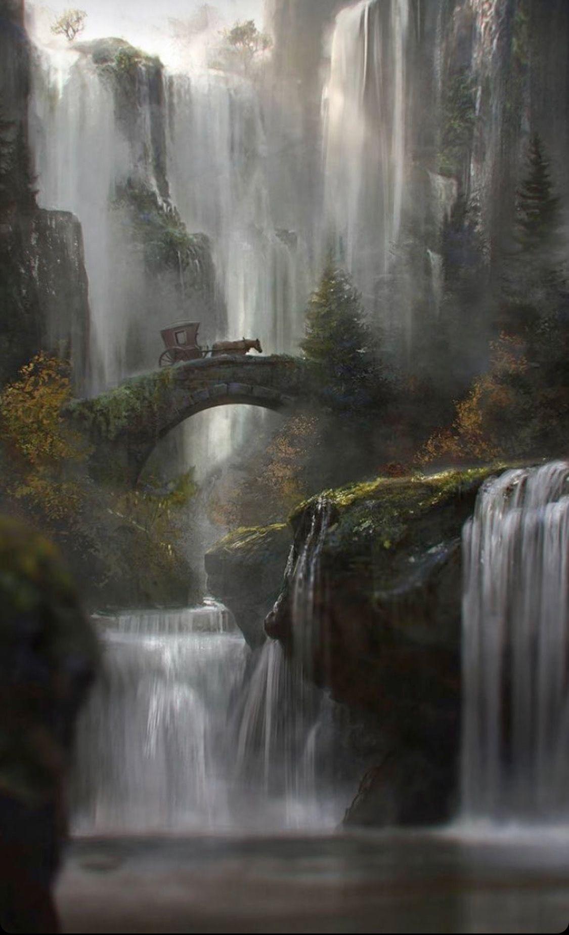 Pin by Becky Devaney on Artworks | Pinterest | Fantasy landscape ... for Fantasy Water Landscape  35fsj