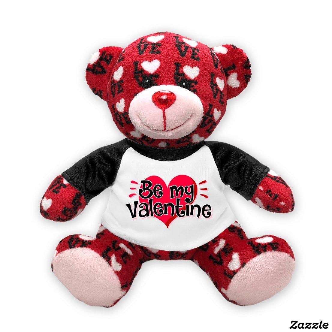 Be My Valentine Adorable Love Stuffed Teddy Bear Teddy Bear Gifts Teddy Bear Stuffed Animal Teddy Bear