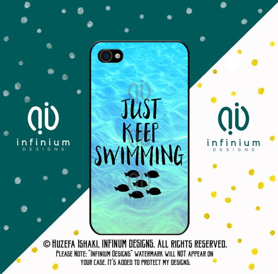 best service 9beb8 37e6f Just Keep Swimming Case For iPhone 8, Samsung S9, S9 Plus, Samsung ...
