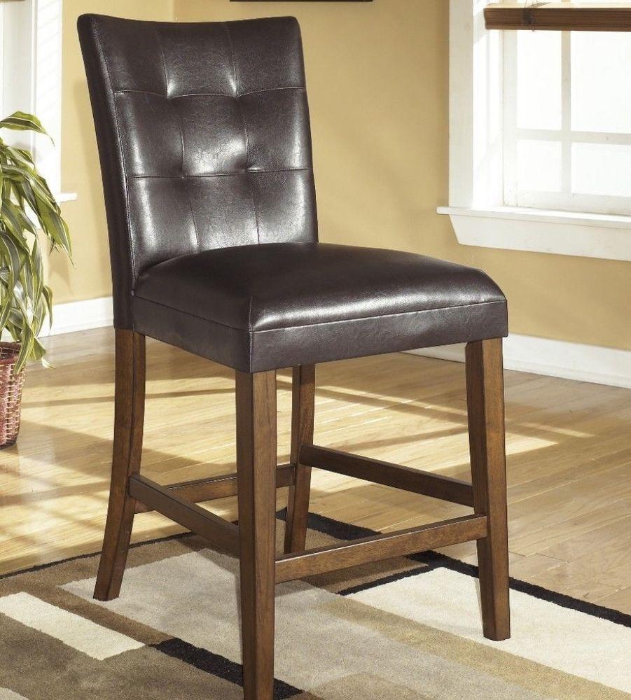 Lacey Medium Brown Upholstered Bar Stool Set Of 2 Kitchen Bar