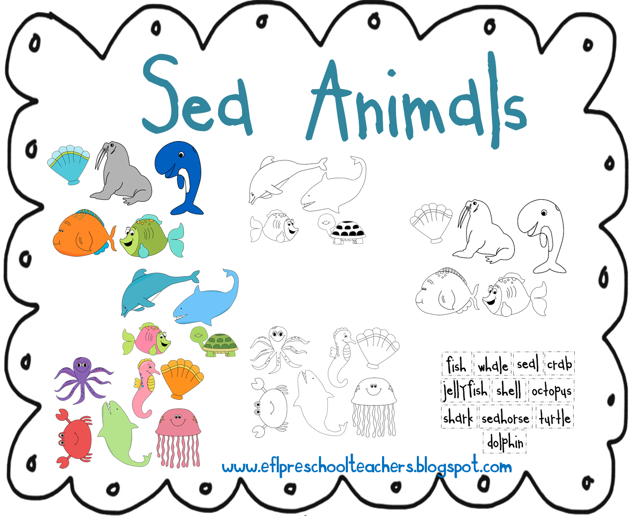 Predownload: Sea Animals Ocean Theme Ocean Theme Classroom Preschool Themes Ocean Themes [ 1039 x 1270 Pixel ]