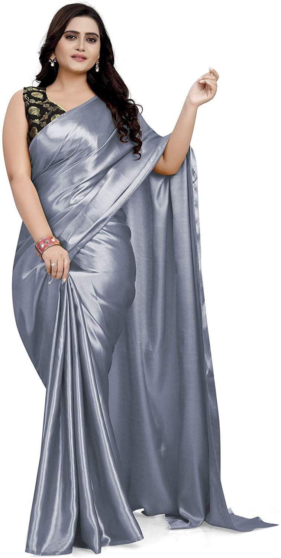 Black Heavy Japan satin silk Saree and blouse for women,wedding saree,indian saree,designer saree,traditional saree,saree dress,sari,saris