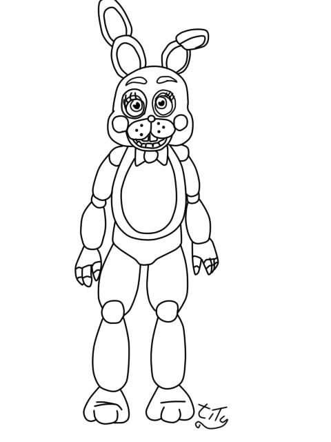 Five Nights At Freddys2 Toy Bonnie By Titygore On Deviantart