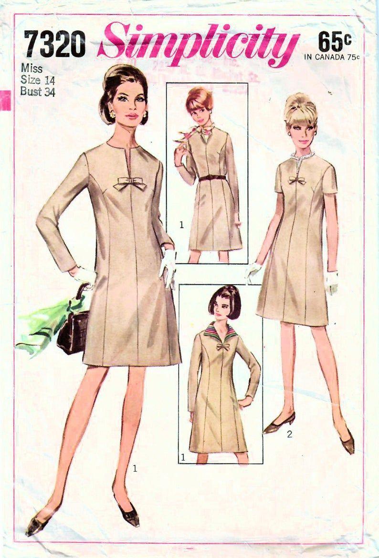1960s Simplicity 7320 Uncut Vintage Sewing Pattern Misses Etsy In 2021 Vintage Sewing Patterns Princess Line Dress Simplicity Patterns Dresses