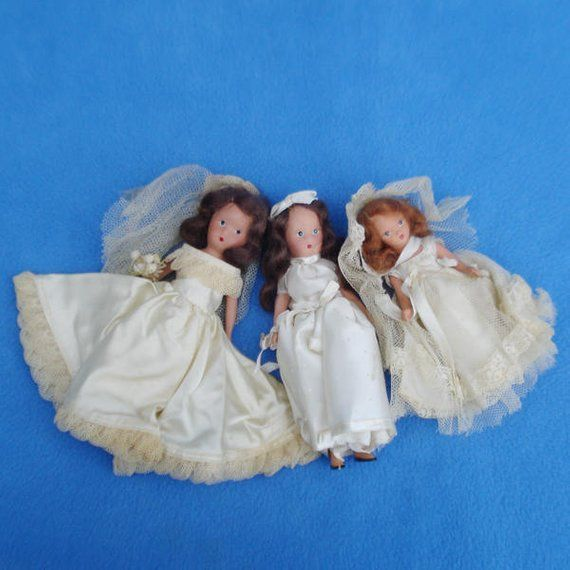 Vintage K & H and Storybook Bride Dolls for TLC or Parts #bridedolls