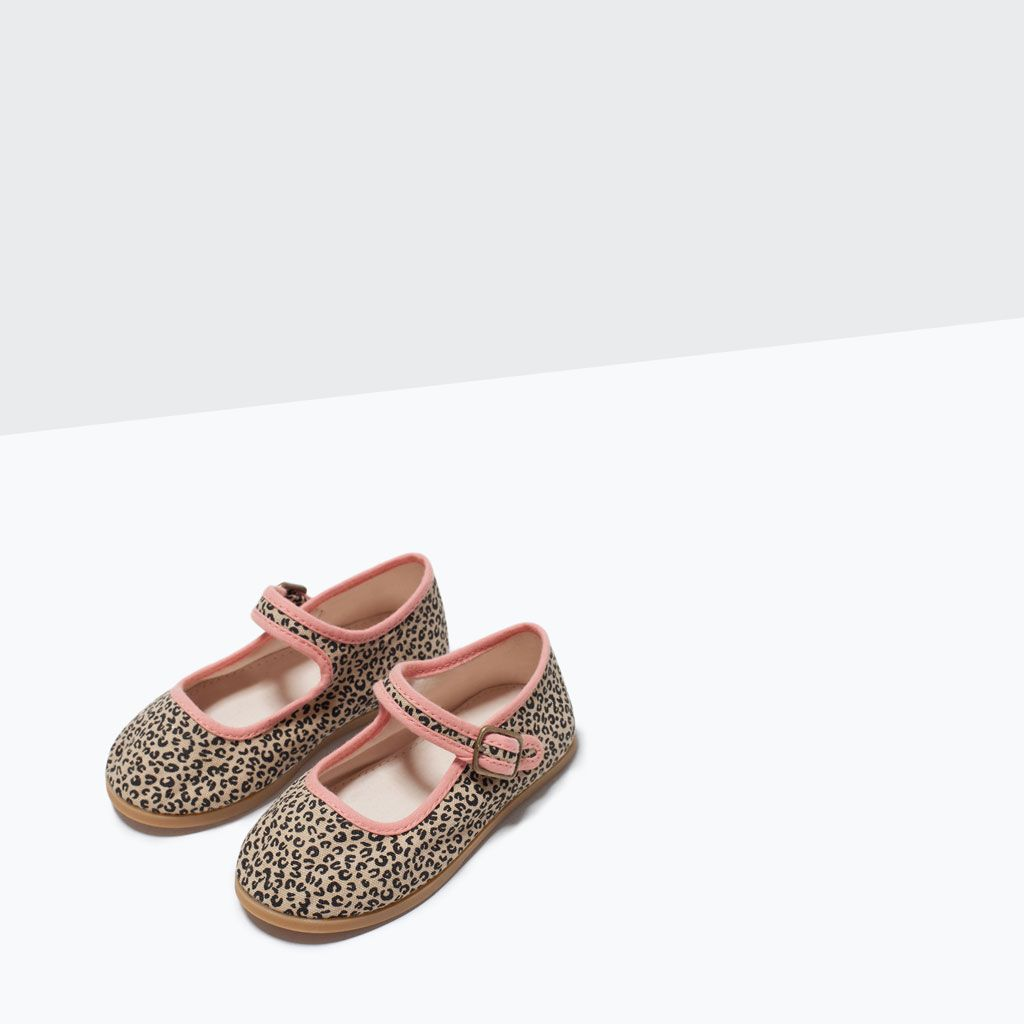 BALLERINASKOR MED VRISTBAND OCH ANIMAL PRINT-Skor-Baby flicka (3 månader–3 år)-BARN | ZARA Sverige