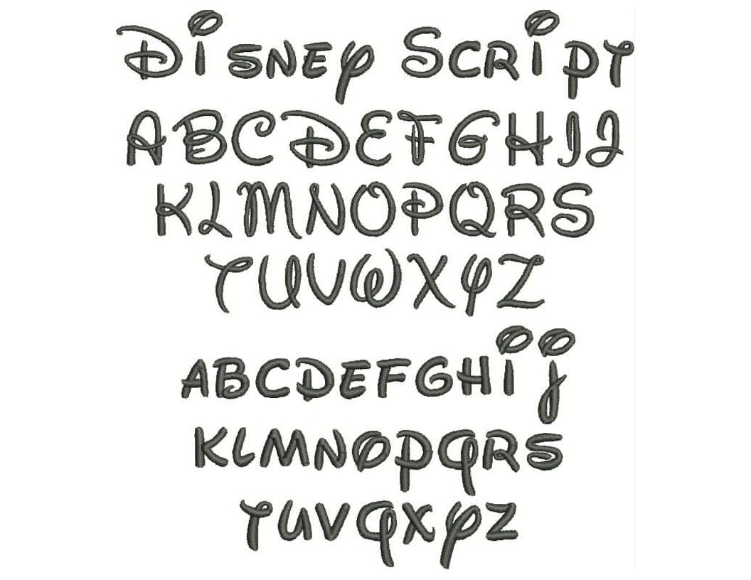 Disney fonts free pin walt disney script sjacaqdr free cursive tattoo fonts on pinterest - Lettre disney ...