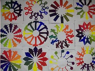 Painted Color Wheel Lesson Art Class Ideas Etc Pinterest