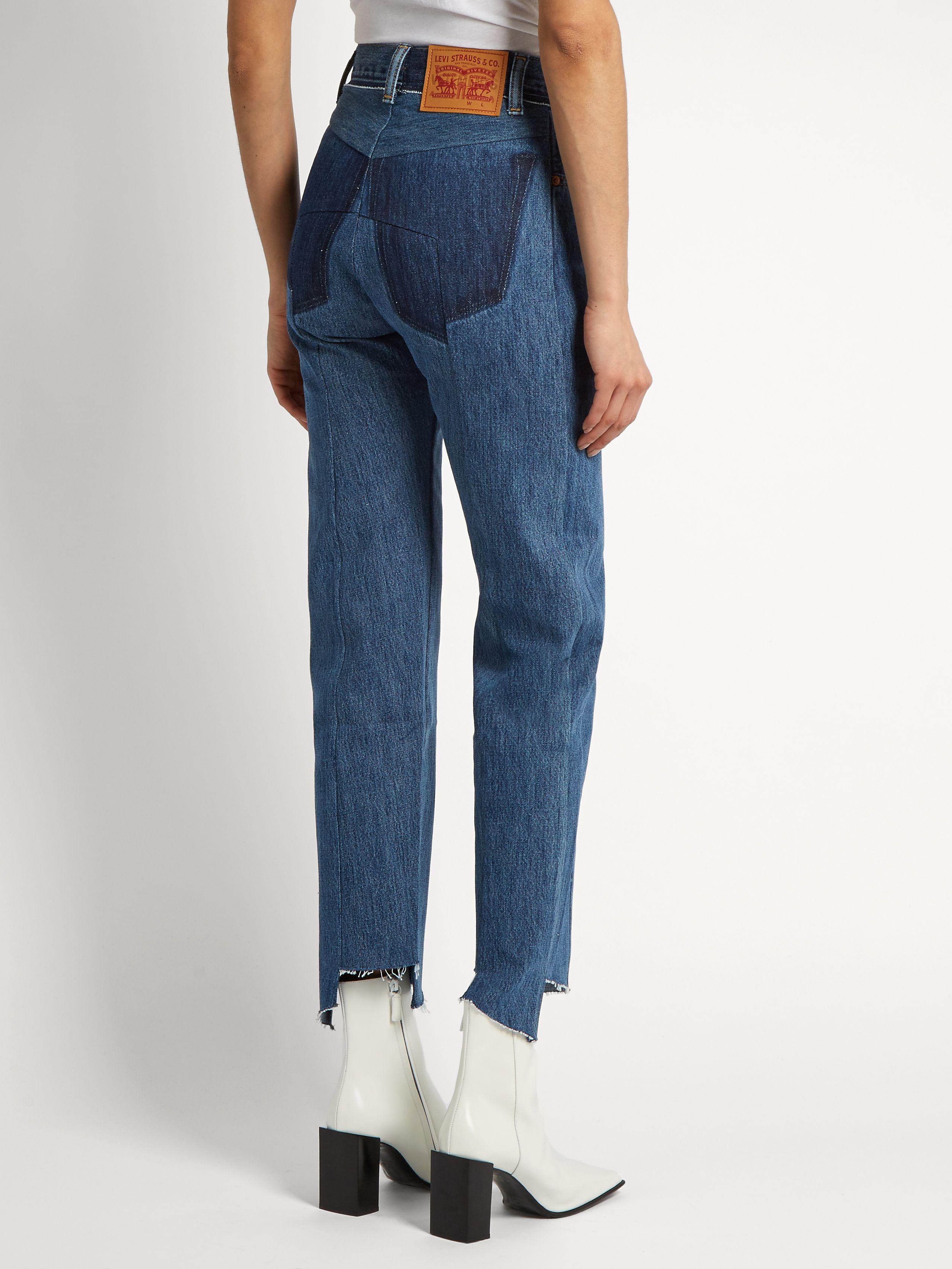 + Levis Mid-rise Straight-leg Jeans - Mid denim VETEMENTS Dc28qrNB
