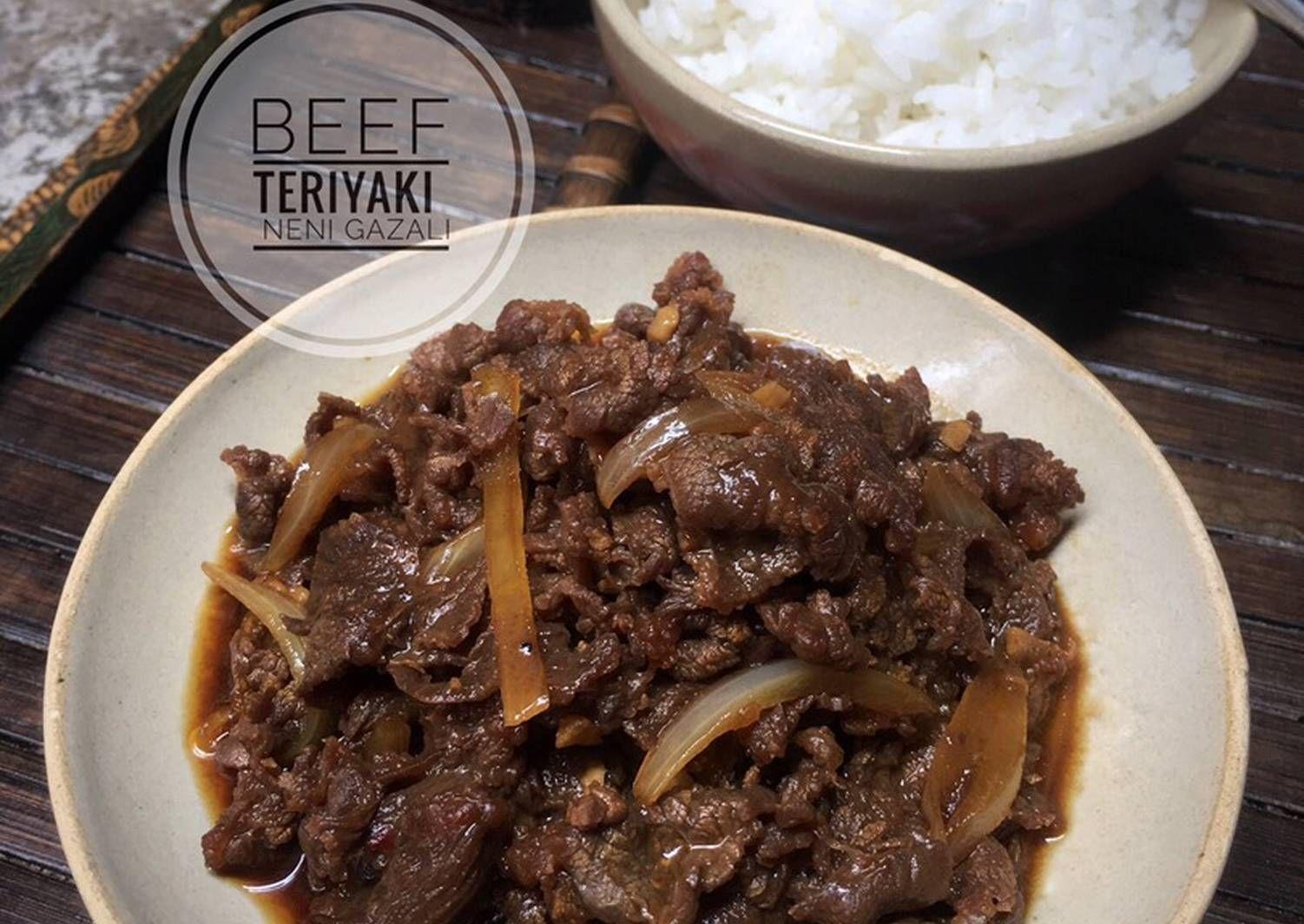 Resep Sederhana Cara Memasak Beef Teriyaki Yang Enak Resep Sederhana Makanan Dan Minuman Resep Daging Sapi