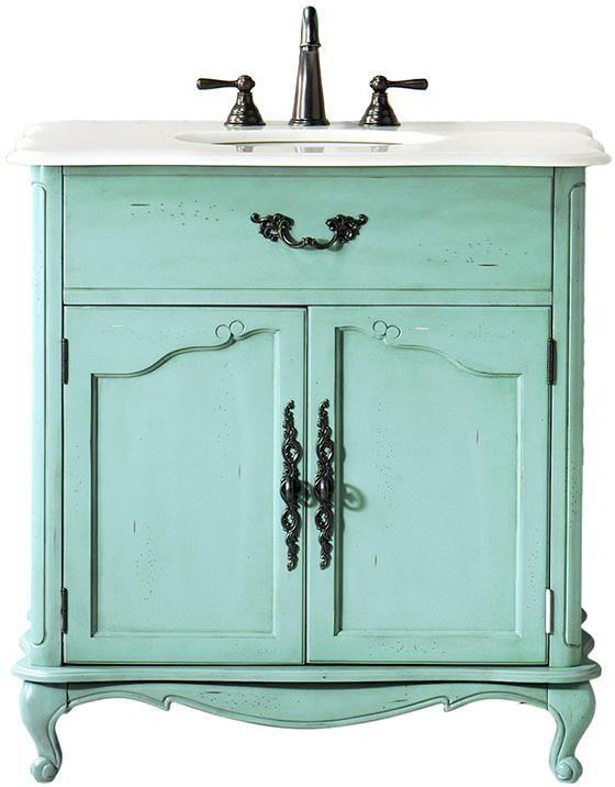 Home Decorators Collection Provence 33 In W X 22 In D Bath Vanity In Blue With Natural Marble Vanity Top In White 1112800310 Single Sink Vanity Vanity Sink Marble Vanity Tops