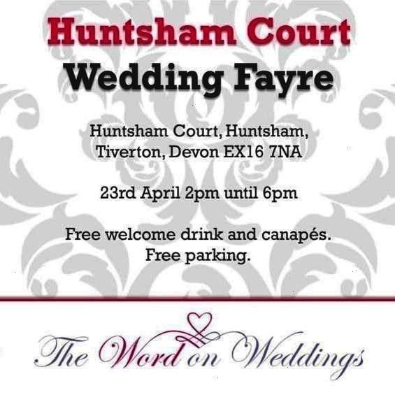 Huntsham Court wedding fayre this Sunday come and join us the  Events We are exhibiting Huntsham Court wedding fayre this Sunday come and join us the  Events  We are exhi...