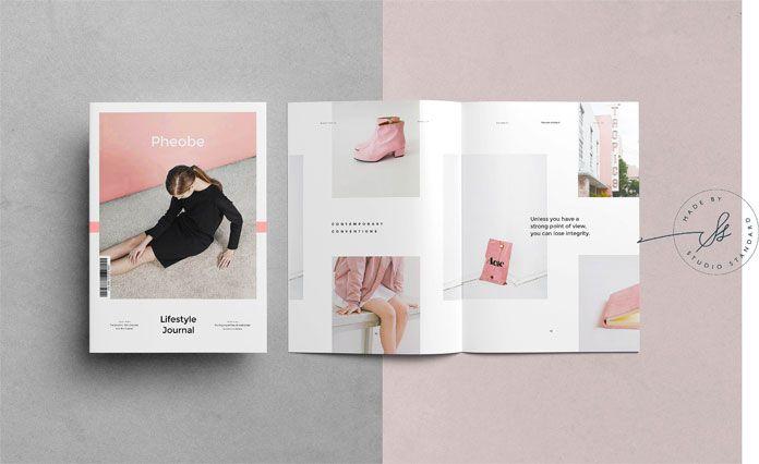 Phoebe - Adobe InDesign Magazine Template | Adobe indesign, Adobe ...