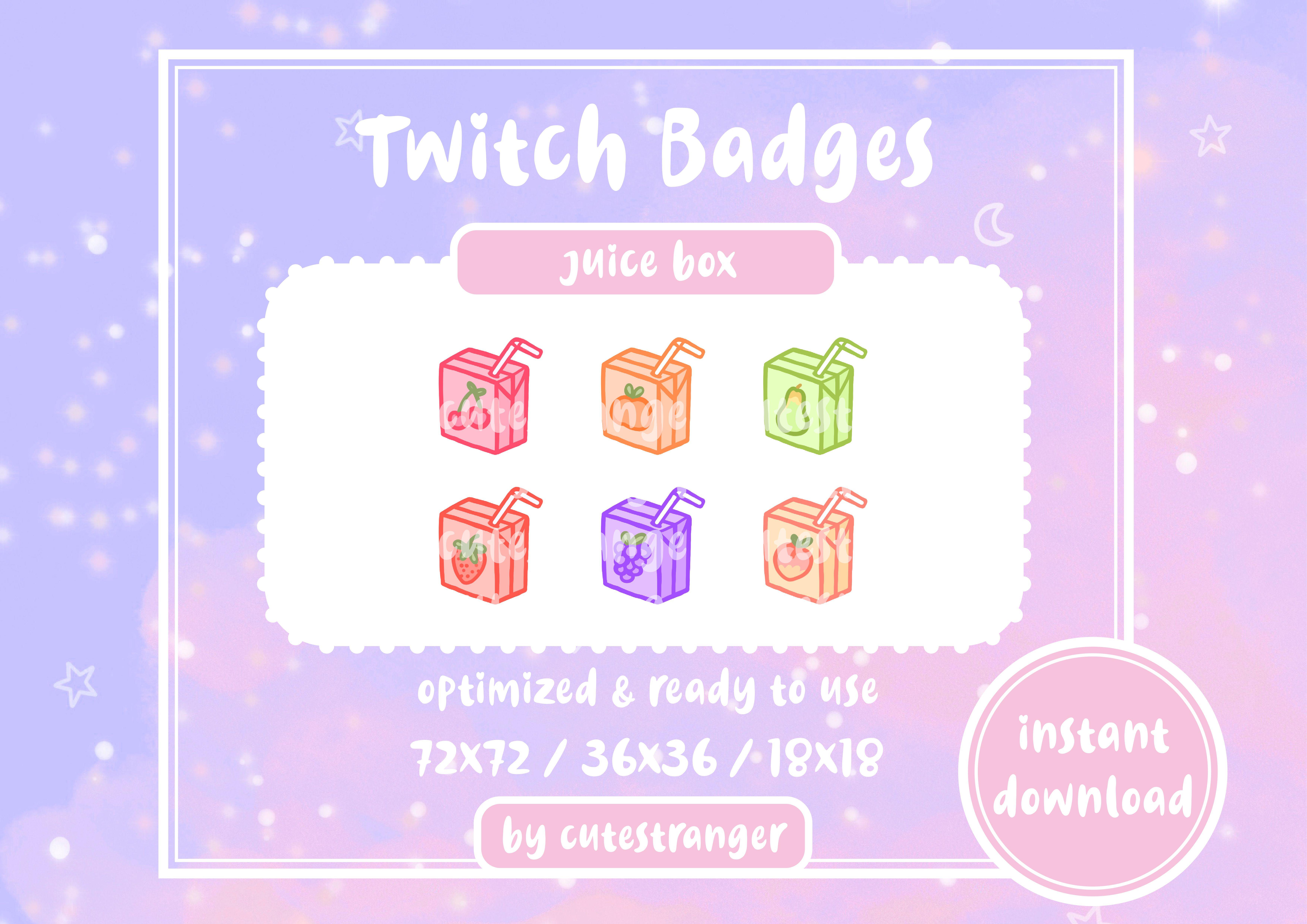 Pastel Juice Box Sub Badges Twitch Juice Boxes Twitch Badge
