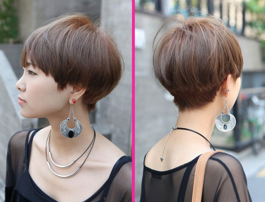 Side view of cute short haircut with bangs bangs haircuts with