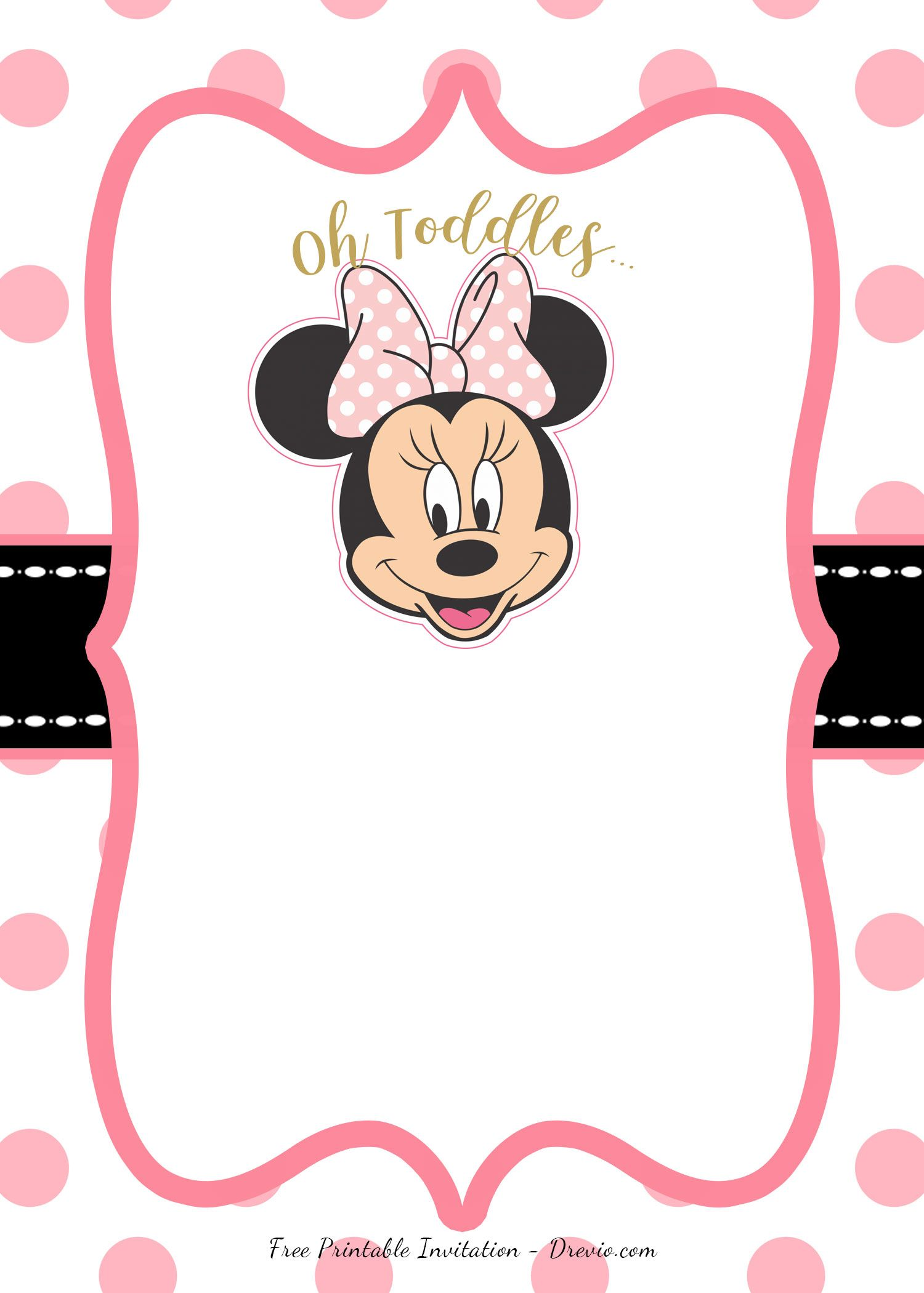 free pink minnie mouse birthday party