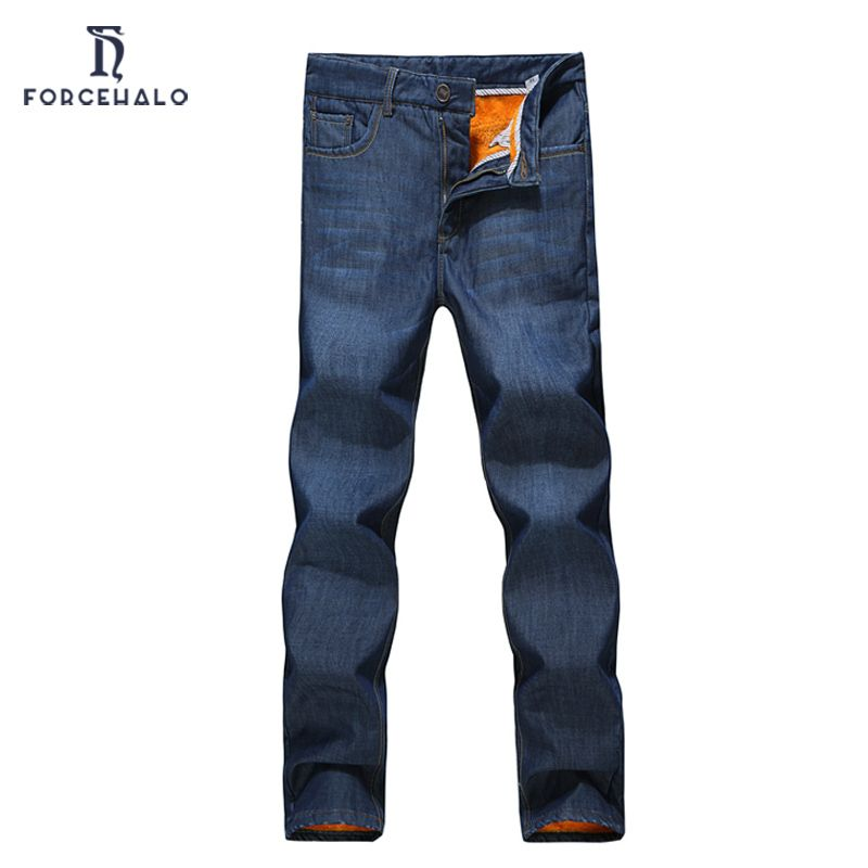 (Buy here: http://appdeal.ru/2vtg ) 2016 New Brand Winter Men Jeans Casual Straight Slim Fit Men Denim Pants Thickening Thermal Men's Long Pants Top Quality for just US $29.22