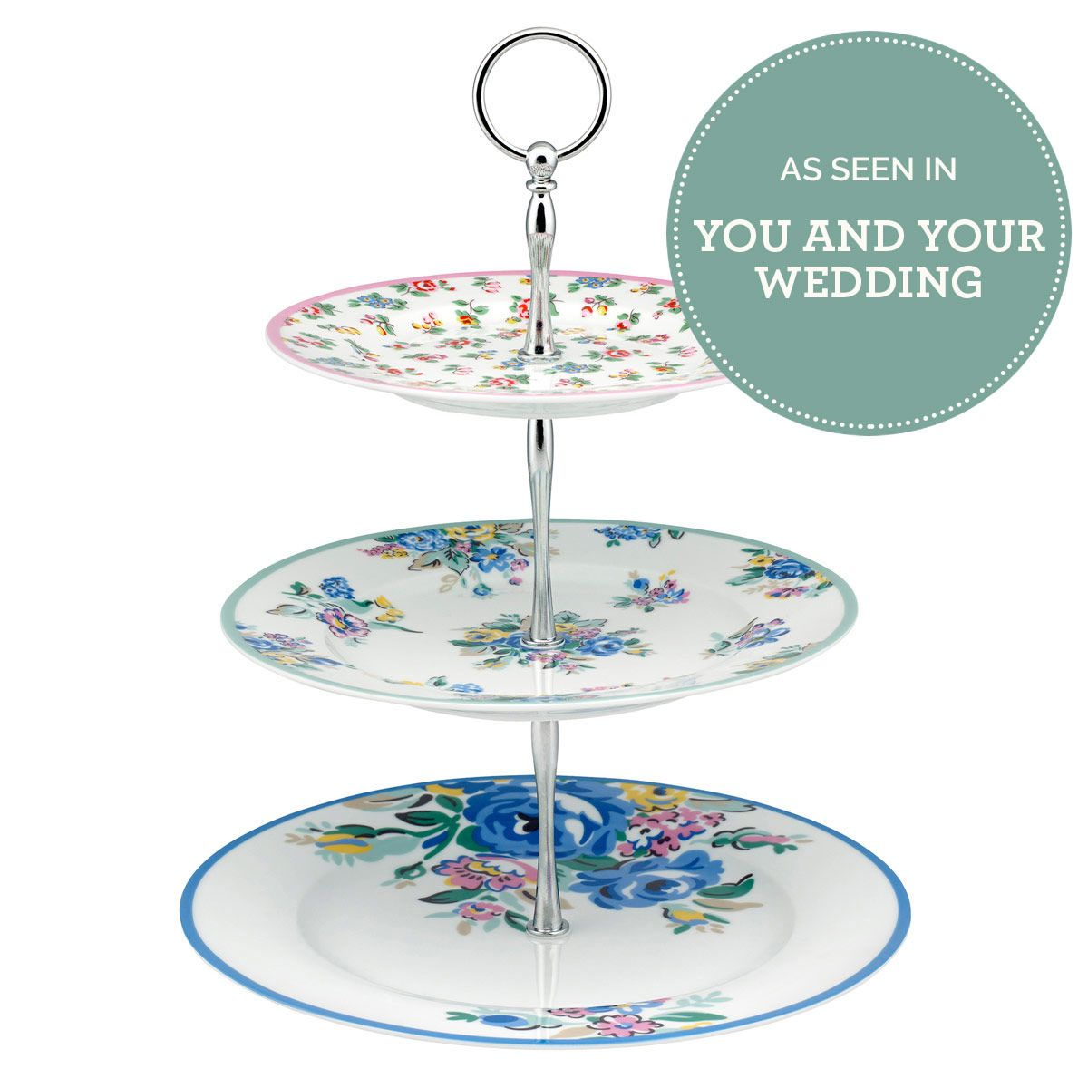 Highgate rose tier cake stand afternoon tea cathkidston home