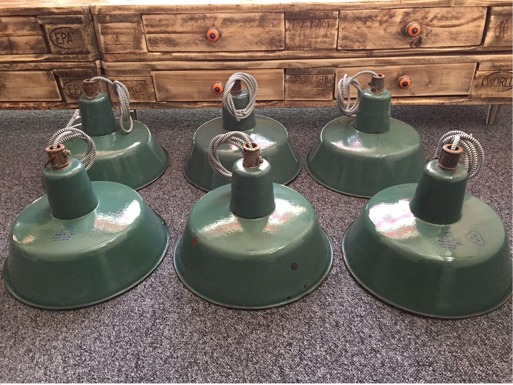 Alte Emaille Industrie Lampen Loft Industrie Lampen Alt Werklampen