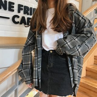 Photo of Buy Dute Plaid Shirt at YesStyle.com! Quality products at remarkable prices. FRE…