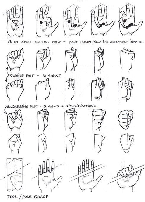 Hands reference. | Ilustración | Pinterest | Dibujo, Anatomía y Dibujar