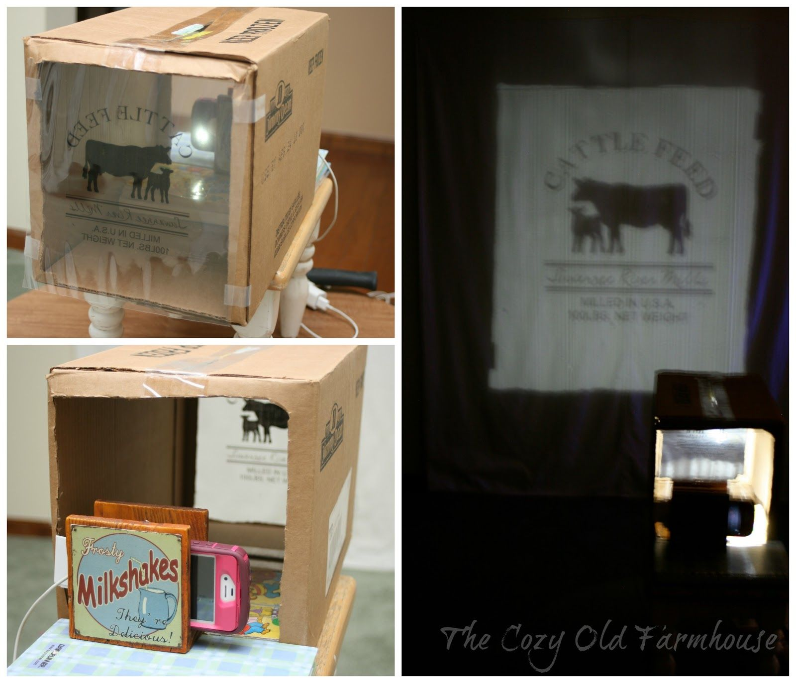 Homemade Overhead Projector Using Box And Flash Light App