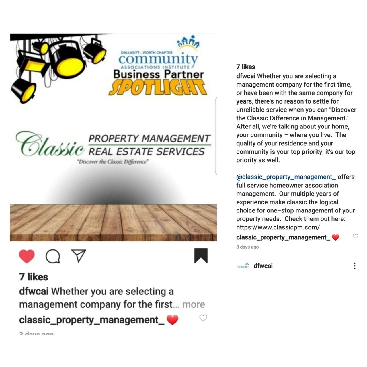Classic Property Management Aamc Classic Real Estate Services In 2020 Association Management Property Management Real Estate Services
