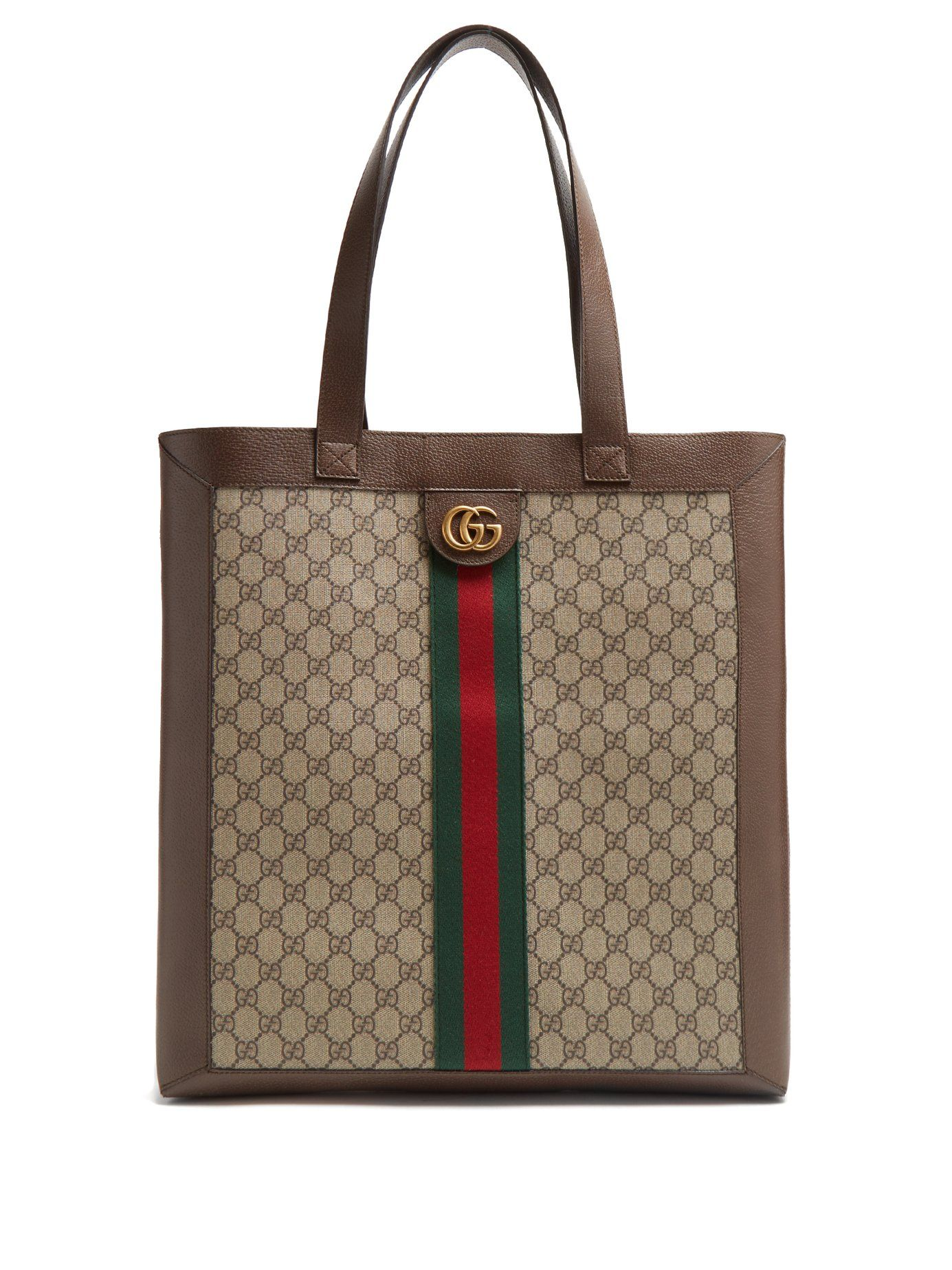 aae1786475da Designer Purses We Adore. Ophidia GG Supreme canvas and leather tote