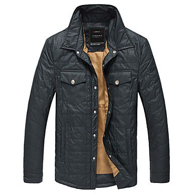 Men's Stand Collar with Front Pocket Coat