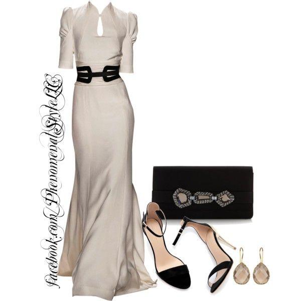 Carolina Herrera white long sleeve maxi dress