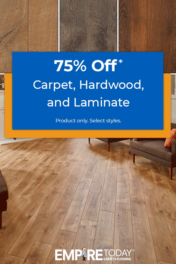 Update Your Decor With New Floors From Empire It S Empire Today S 75 Off Sale Get 75 Off Select Styles Of In 2020 Flooring Home Estimate Living Room Wood Floor