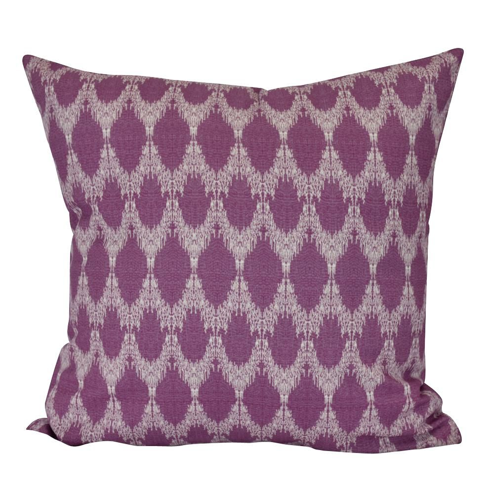 E BY DESIGN Peace Purple Geometric 16 in. x 16 in. Throw Pillow