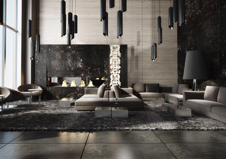 Clean modern elegant open plan lots of light soft for Hotel decor inspiration