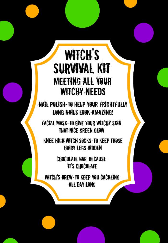 Witch's Survival Kit #spookybasketideas