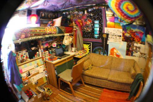 Fish Eye Dorm Cool Dorm Rooms Chill Room Hippy Room