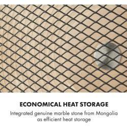 HeatPal Marble Blackline Infrarot-Heizung 1300W Wärmespeicher Marmor Aluminium KlarsteinKlarstein #coolmugs