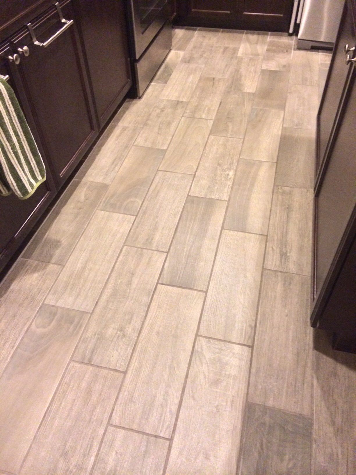 Cliffs Edge Emblem Gray Wood Tile Kitchen Ceramic Floor Look