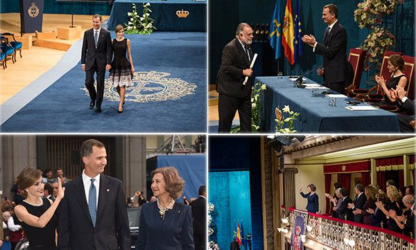 Queen Letizia and Prince Felipe hosted the Princess of Asturias awards, where director Francis Ford Coppola was honored, top right, and Felipe's mom Queen Sofia, below right, got a standing ovation.