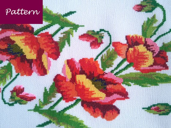 Tablecloth Cross Stitch Pattern Rectangular Table Runner Etsy Cross Stitch Patterns Easy Cross Stitch Patterns Colourful Cross Stitch