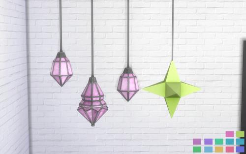 Pink.Sprites Movie Hangout Lamps in 12 Nyren Kosmik Colors