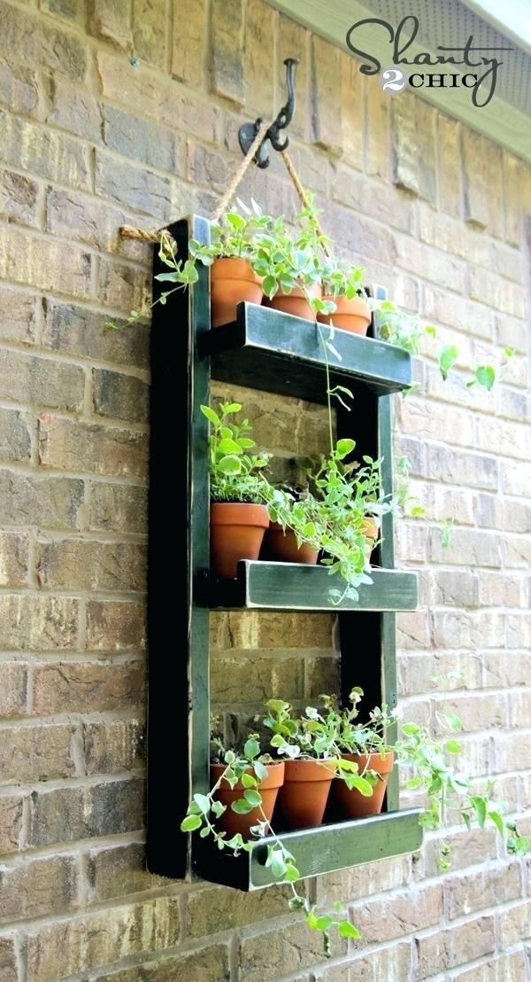 Attirant Hanging Wall Planters Outdoor Outdoor Wall Mounted Herb Garden Hanging Wall  Planter Tips Outdoor Hanging Planters Wall Mounted