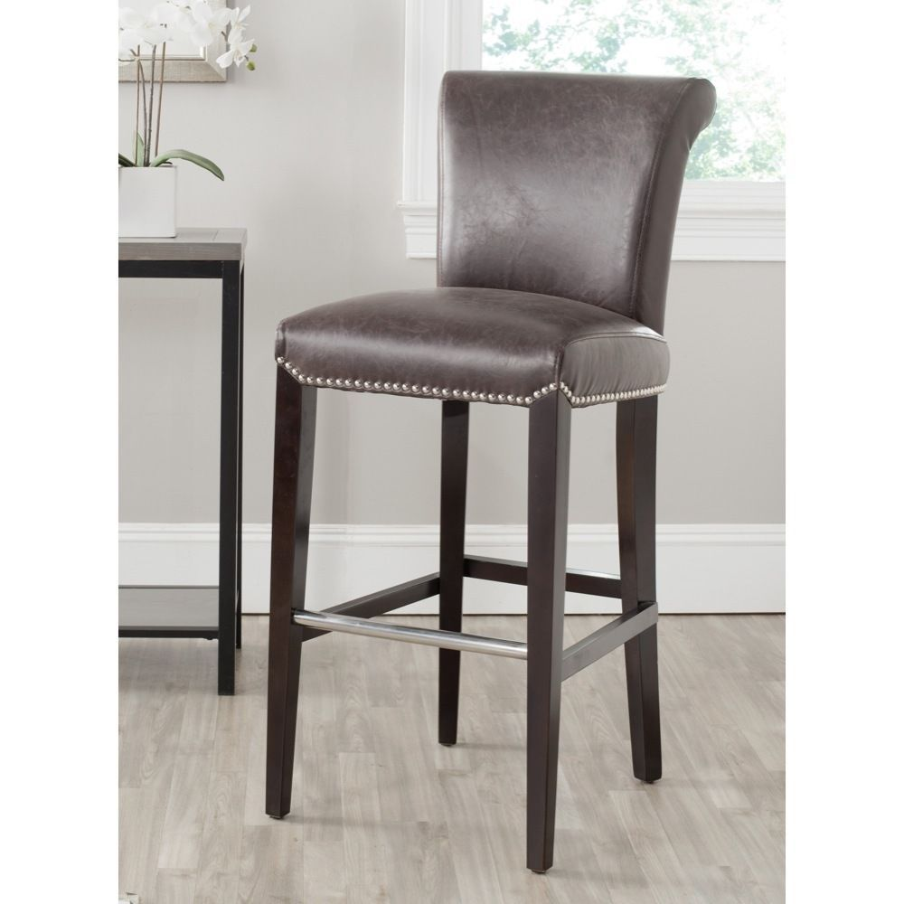 Safavieh Seth Antique Brown Bar Stool (30 Inches) | Overstock.com Shopping - Great Deals on Safavieh Bar Stools